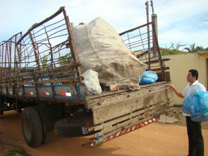 Transporte do material