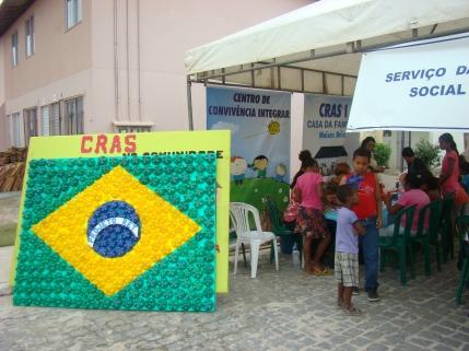 Exposição em trabalhos no território do Cras