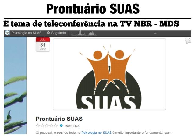 Prontuário SUAS - Blog Psicologia no SUAS rf