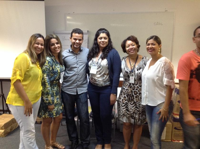 Equipe Eunápolis com os instrutores do Curso: Magon e Norma
