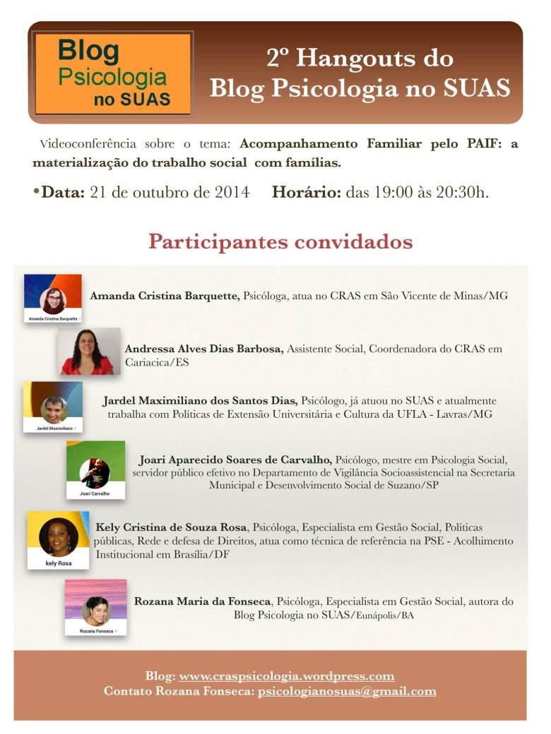Blog Psicologia no SUAS evento
