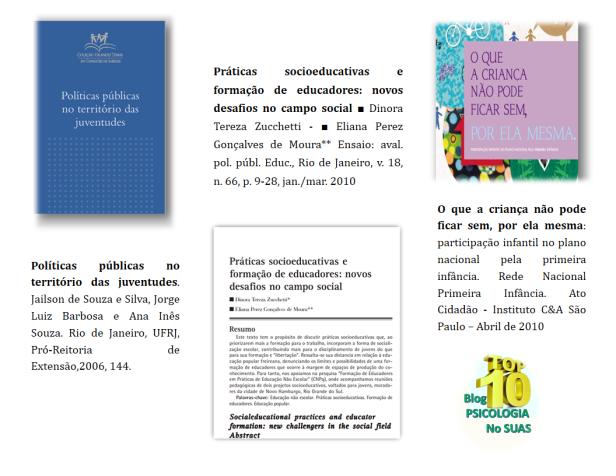 Vejam o Post original com Materiais para Ações socioeducativas mais estesmateriais com essa temática -Clicando AQUI.