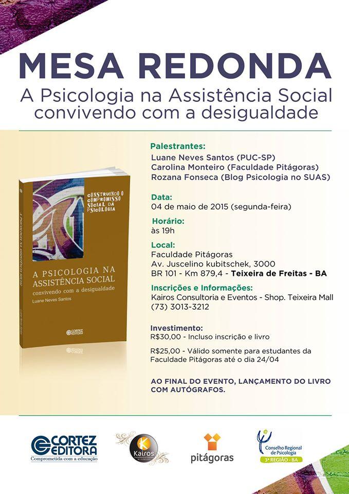 Mesa Redonda Rozana Maria da Fonseca psicóloga