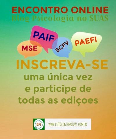 Encontros online Blog Psicologia no SUAS