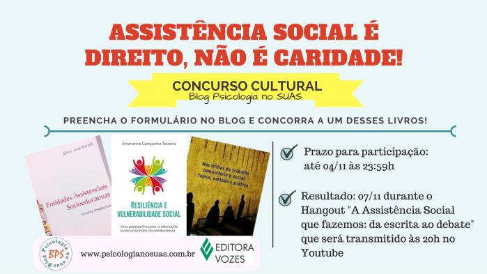 Assistência Social é direito, não é caridade -ConcursoCultural