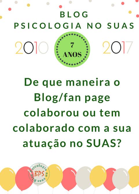 07 anos do Blog Psicologia no SUAS (concursocultural)