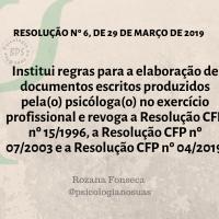 Resolução CFP nº 6, de 29 de Março de 2019.