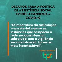 Desafios para a política de Assistência Social frente a pandemia – Covid-19*