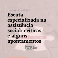Escuta especializada na Assistência Social: críticas e alguns apontamentos